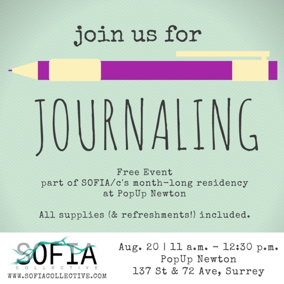 Journaling at PopUp Newton